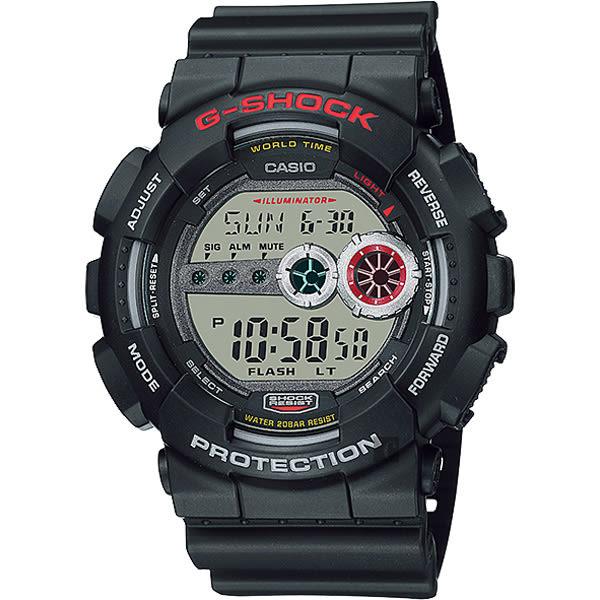 CASIO 卡西歐 G-SHOCK 高亮度LED運動錶-黑 GD-100-1ADR / BG-6901-7