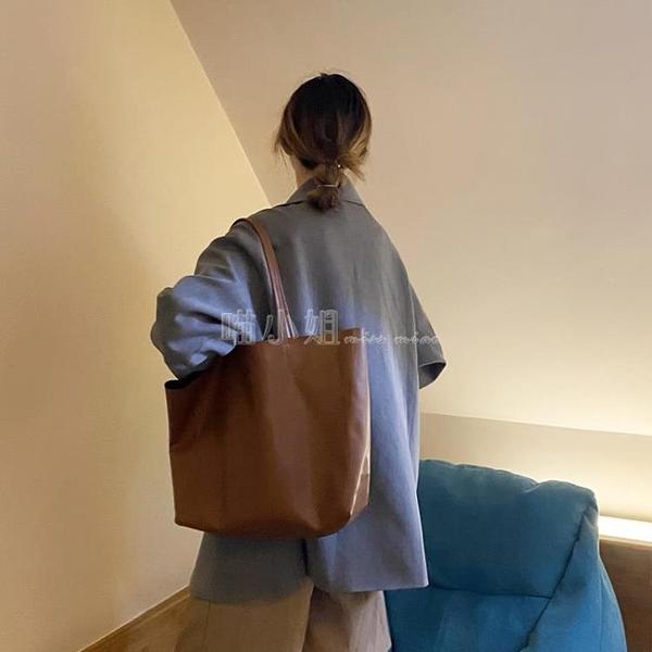 托特包 大容量包包女2020新款潮網紅托特包百搭ins單肩手提大包購物袋包 喵小姐