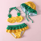 新年大促兒童泳衣女孩嬰兒寶寶比基尼女童泡溫泉可愛小菠蘿游泳衣泳裝 森活雜貨