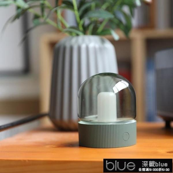 USB燈 創意M1懷舊復古小夜燈USB充電燈泡燈LED呼吸燈睡眠床頭臥室氛圍燈