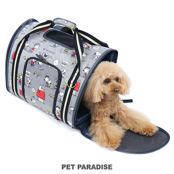 【PET PARADISE 寵物精品】SNOOPY 熱賣款●滿版圖案雙肩前/後2WAY背包【硬殼雙肩外出包】