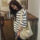 韓國文藝潮流百搭大容量休閒帆布包 Ac8012『時尚玩家』