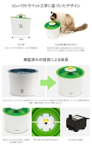 *KING WANG*日本《GEX Catit 湧泉花朵飲水機專用 軟水濾水綿》SENSES2.0-內2入