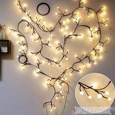 LED彩燈 房間臥室裝飾led樹枝藤條彩燈閃燈串燈滿天星星圓球店鋪佈置婚慶 科技藝術館