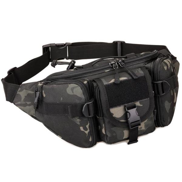 守護者腰包男士戶外多功能包大容量彈弓防水帆布電工具腰包路亞包 「免運」