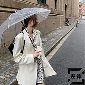 西裝女外套韓版寬鬆白色休閒小西服薄款潮赫本風【左岸男裝】
