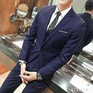 中大尺碼西裝套裝 韓版薄款西服套裝男帥氣修身職業服裝西裝 DR622 【KIKIKOKO】