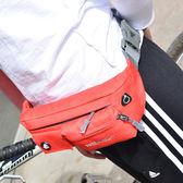 ♚MY COLOR♚時尚多功能腰包 拉鍊 多袋 手機 鑰匙 零錢 卡片 調節 耳機孔 音樂 運動【Z33】