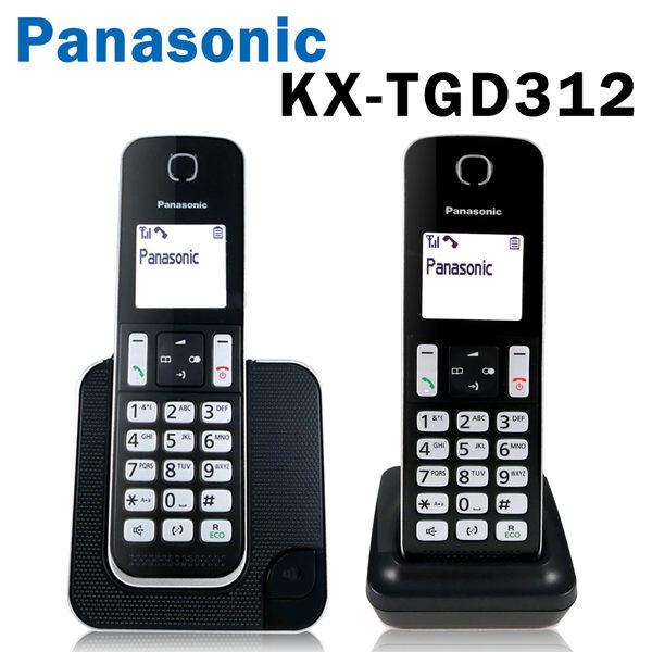【贈計步器+電容筆 公司貨】Panasonic 國際牌 KX-TGD312 數位無線電話 室內電話 勿擾模式 1.8吋螢幕