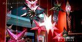圣誕節裝飾品開業布置店鋪五角星星吊頂掛飾商場珠寶店面學校吊飾   東川崎町