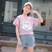 女童短袖T恤夏季2020新款中大童9兒童半袖上衣12歲女孩洋氣夏裝潮 小城驛站