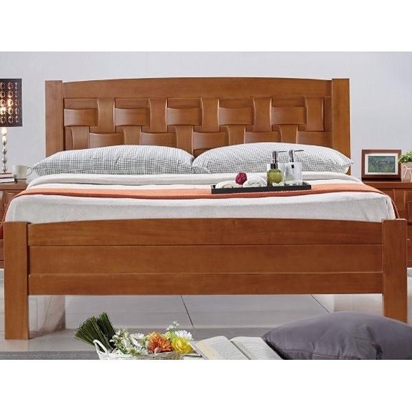 床架 床台 SB-091-2 編織5尺柚木雙人床 (不含床墊) 【大眾家居舘】