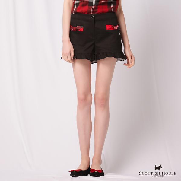 荷葉褲口造型短褲 Scottish House【AD2264】