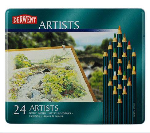 Derwent 達爾文 Artists系列/24色油性色鉛筆*32093