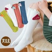 兒童襪子純棉堆堆襪3-5-7-9歲女童純棉襪女孩長筒公主高筒襪春秋 蘿莉小腳ㄚ