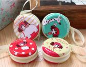 紅帽女孩款圓型耳機收納零錢包袋拉鍊耳機包