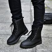 現貨出清馬丁靴  馬丁靴男士韓版潮流短靴皮靴工裝靴雪地靴軍靴沙漠棉靴棉鞋男靴11-9