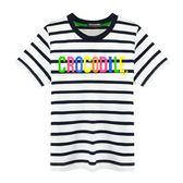 『小鱷魚童裝』多彩LOGO條紋T恤(08號~20號)533404
