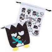 【KP】酷企鵝 束口袋 2入組 三麗鷗 BAD BADTZ-MARU 化妝包 日本進口正版授權 490161008629