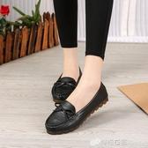 豆豆鞋 豆豆鞋女新款夏季百搭韓版防滑軟底孕婦鞋白色透氣舒適護士鞋 檸檬衣舍