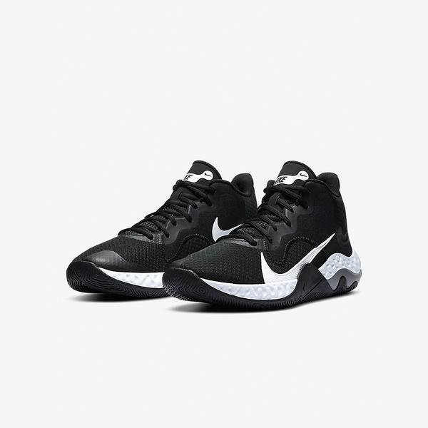 NIKE系列-RENEW ELEVATE 男款黑白大勾REACT底籃球鞋-NO.CK2669001