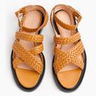 【Taroko】舒活夏日交叉編織帶縷空涼鞋(2色可選)
