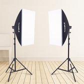 單燈頭柔光箱2燈套裝攝影棚攝影燈柔光箱套裝攝影器材補光燈    汪喵百貨