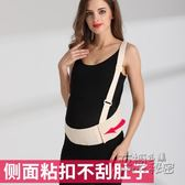 托腹帶孕婦專用 透氣 夏季大人有喜挎肩式護腰拖腹帶保胎孕期用品 衣櫥の秘密