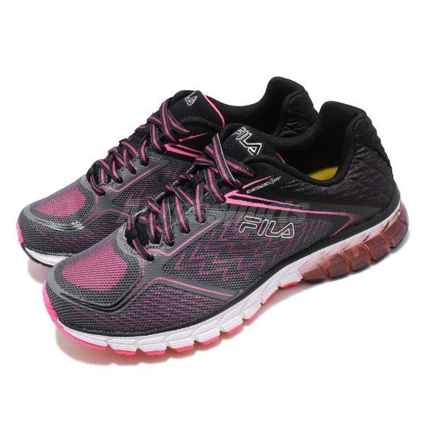 【五折特賣】FILA 慢跑鞋 Complexity 360 Energized 灰 粉紅 動能迴力膠 運動鞋 女鞋【PUMP306】 5J030R060