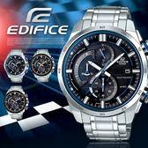 【人文行旅】EDIFICE   EQS-600D-1A2UDF 高科技智慧工藝結晶賽車錶 太陽能
