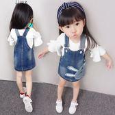 【618好康鉅惠】618好康鉅惠2018春裝新款兒童牛仔背帶裙吊帶裙子3-4-5歲