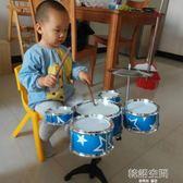 兒童架子鼓初學者練習鼓仿真爵士鼓樂器音樂玩具鐳射五鼓1-2-3歲 IGO