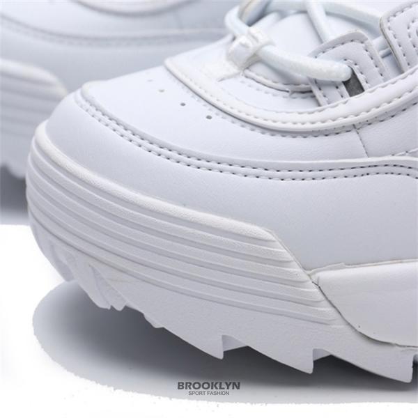 FILA 休閒鞋 DISRUPTOR 2 全白 鋸齒 經典 老爹鞋 女 (布魯克林) 4C608U125