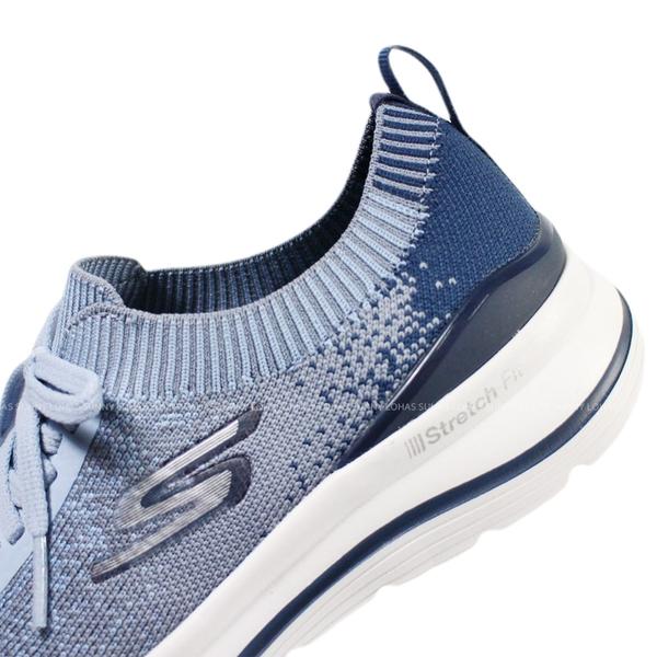 (BZ) SKECHERS 女鞋 GO walk Stretch Fit健走鞋 襪套式 免綁帶 124384NVBL冰雪藍 [陽光樂活]