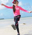 桃紅水母衣防曬長袖泳裝+長褲+短褲 三件式 寶寶泳衣 橘魔法 玩水褲 現貨 童 泳衣 兒童