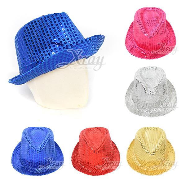 節慶王【W010041】亮片紳士帽(五款),萬聖節/Party/角色扮演/化妝/舞會/cosplay/造型/牛仔帽/帽子