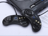 全館83折 MD世嘉16位黑卡插卡游戲機手柄FC80後懷舊復古SEGA