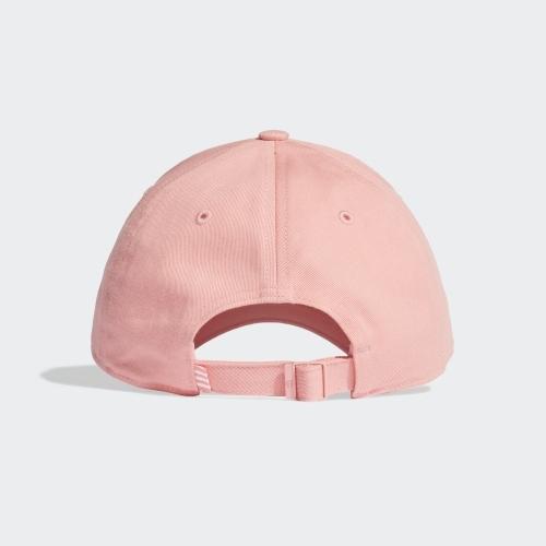 Adidas 男女款粉色LOGO棒球帽 FK0893