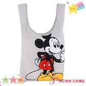 【京之物語】日本迪士尼商店米奇灰色可收納環保手提袋 環保袋-預購商品