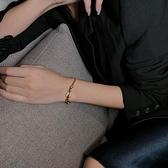 手鏈 時尚馬蹄扣手鏈ins小眾設計閃鉆高級感手串閃鉆個性學生閨蜜手飾【快速出貨八折下殺】