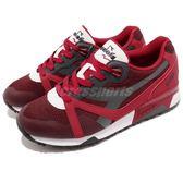 DIADORA 復古慢跑鞋 N9000 Arrowhead 紅 黑 無車縫編織設計 吸震 運動鞋 男鞋【PUMP306】 DA17109945043