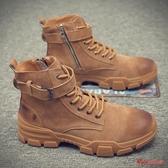 馬丁靴男 男冬季潮流高筒棉鞋加絨雪地靴子男士工裝短靴英倫中筒皮靴 5色38-44