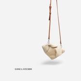LOSEA 毛絨兔子包包女2020新款毛毛包女可愛單肩斜挎包百搭小包包