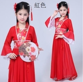 熊孩子❤女童古裝演出服七仙女古裝漢服(主圖款-紅色)定制不退