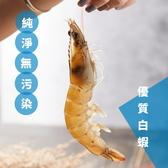 【蝦大俠】極品超級大尾白蝦(約280克/9尾裝/每尾約32~35克)