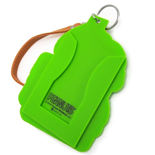 SHO-BI 立體造型矽膠票卡夾 SNOOPY&糊塗塔克 冰淇淋 螢光綠_SB04852
