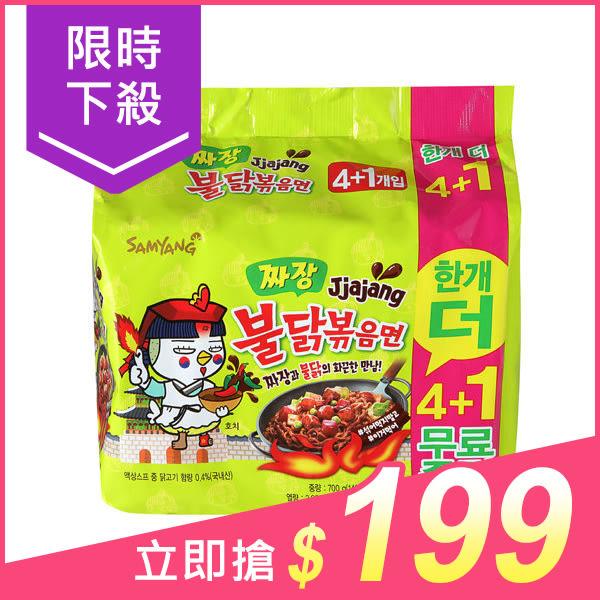 韓國 SAMYANG 三養 火辣雞肉炸醬風味鐵板炒麵(140gx5包)【小三美日】團購/泡麵 原價$229