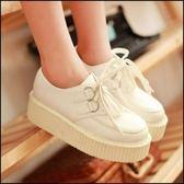 5天出貨★女鞋休閒鞋英倫風厚底單鞋學院風潮鞋鬆糕鞋★ifairies【23688】