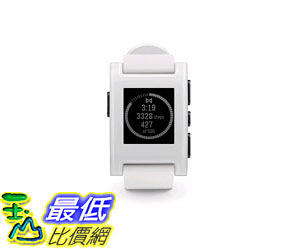 [105美國直購] Pebble Smartwatch White  301WH B00KX828DG