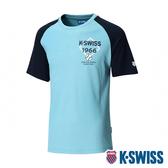 【超取】K-SWISS Raglan Tee印花短袖T恤-男-綠/藍